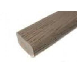 Staprand halfrond flex. Grijs 2400 x 50 x 33 mm.