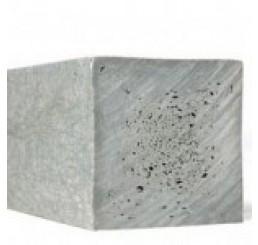 vierkante paal 7,0 x 7,0 x 300 cm. Grijs zonder punt