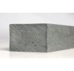 Kunststof balk  4,0 x 8,0 x 280 cm. Grijs